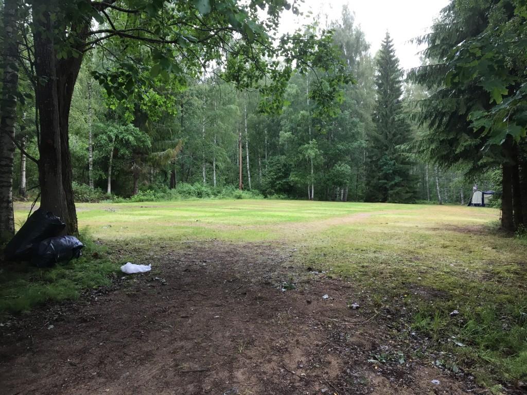 Lägerplatsen efter lägret